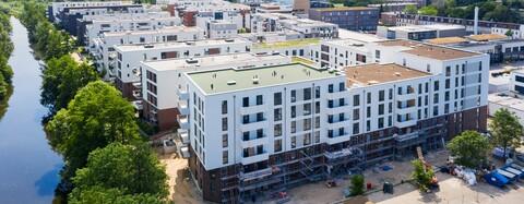 Bauzeit bei Wohnungsbau-Projekt Glasbläserhöfe in Hamburg durch Taktplanung verkürzt