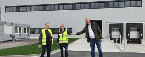 Pünktliche Abnahme der neuen Logistikimmobilie für reimer logistics in Bremen