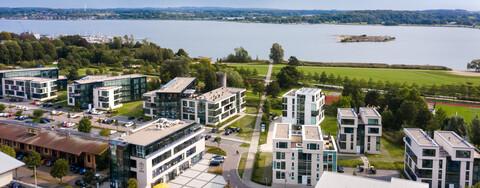 Maritimes Wohnquartier Königswiesenmit Blick auf die Schlei