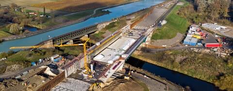 Umfahrungsstrecke für die Ems-Brücke des Dortmund-Ems-Kanals bei Münster