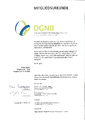 DGNB Mitgliedsurkunde