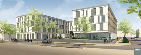 Rascher Baufortschritt für Bürogebäude in Osnabrück