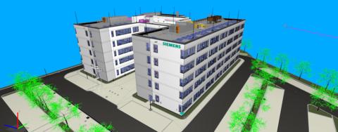 Siemens 3D-Gebäudemodell