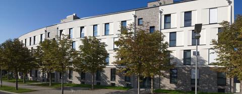 Wohnen im Brühl Süd Erfurt Straßenseite