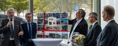 Übergabe der neuen Unternehmenszentrale für die eins energie in Chemnitz