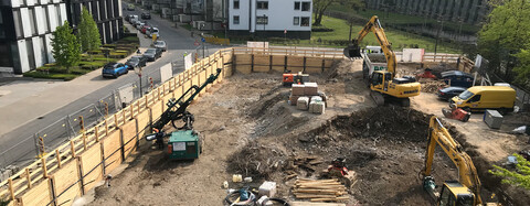 Komplexe Baugrubenerstellung für Bonneshof Düsseldorf