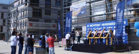 Neubau in historischem Ambiente: Richtfest ehemalige Heeresbäckerei in Leipzig.