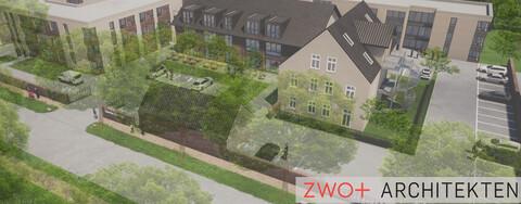 Kräling Altenpflegeheim Bochum, Visualisierung von zwo+ Architekten