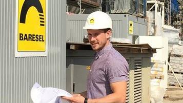 Sascha Widmayer. Jungbauleiter bei der Baresel GmbH, im Interview