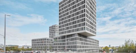 Hochhaus-Architektur für Kap West Bürogebäude München