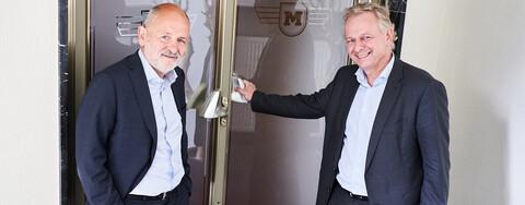 Marcus Hientzsch, Geschäftsführer MERKUR Development Holding, und Wolfgang Richter, Geschäftsführer, Köster GmbH