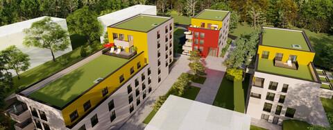 Wennfelder Garten, Tübingen: 3. Bauabschnitt mit drei Wohngebäuden