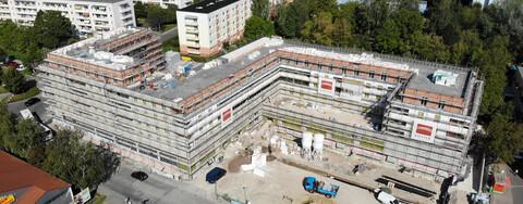 Panoramablick Weimar Köster-Baustelle