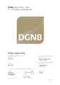 Urkunde DGNB Basiszertifikat in Gold für nachhaltige Logistikgebäude