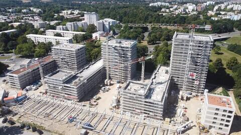 Drohnenaufnahme Wohngebäude Kurt-Schumacher-Ring Wolfsburg