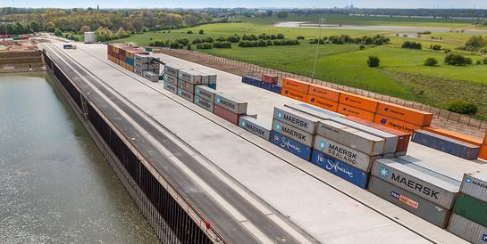 Contargo-Terminal, Voerde-Emmelsum: Vielseitige Infrastruktur für neuen Terminalstandort