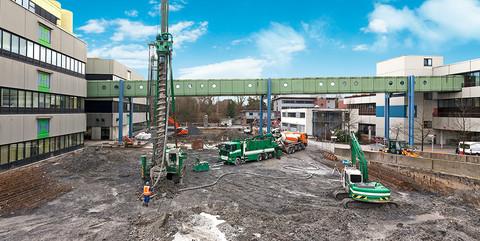 Universitätsklinikum Münster: Spezialtiefbau und Erdausbau für Erweiterungsgebäude