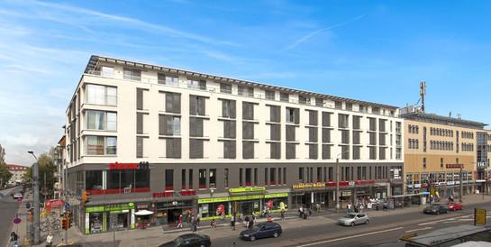 Wohn- und Geschäftshaus Kesselsdorfer Straße, Dresden: Schlüsselfertiger Neubau mit 100 Studentenappartements und Gewerbeflächen