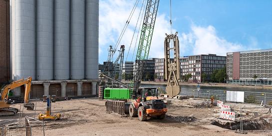 Museum Küppersmühle, Duisburg: Komplexe Tiefbauarbeiten für die Erweiterung