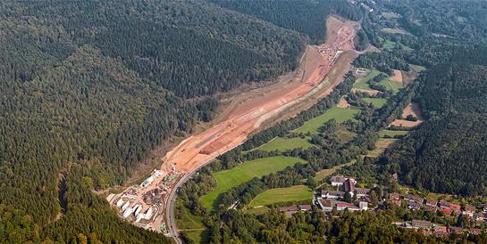 Tunnel Hirschhagen, Hessisch Lichtenau (Nordhessen): Tiefbauarbeiten sowie ergänzende Bauwerke im Zuge des Ausbaus der A 44 Kassel–Herleshausen