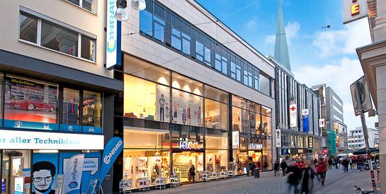 B&L Gruppe, Hamburg: Schlüsselfertiges Geschäftshaus in Dortmunds größter Fußgängerzone.