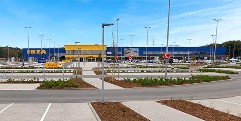 Frei- und Verkehrsanlagen IKEA Wuppertal: Umfangreiche Erdarbeiten mit Bodenverbesserungen