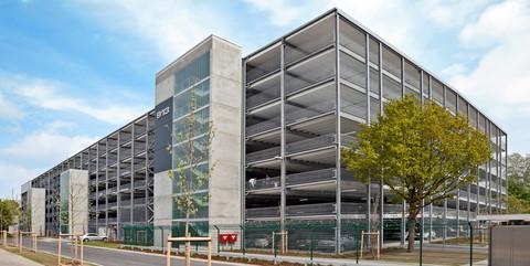 Parkhaus Daimler AG, Bremen: Schlüsselfertiger Neubau eines Parkhauses mit 2.050 Pkw-Stellplätzen
