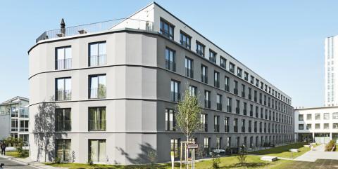 Schlüsselfertiger Neubau eines Studentenwohnheims mit 240 Apartments